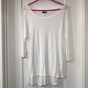 White 3/4 Sleeve
